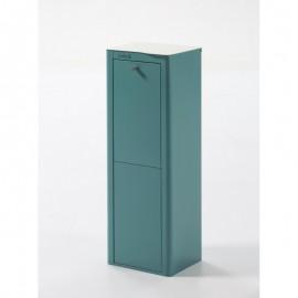 POUBELLE DE TRI SÉLECTIF CUBEK, 2 COMPARTIMENTS Turquoise