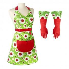 Set ladybug (Delantal y guantes)