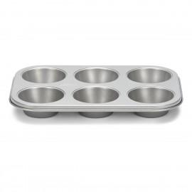 Molde Muffin 6 u. 18x27 cm silver-top