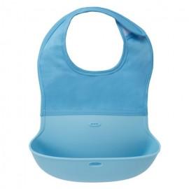 Babero enrollable azul bebe