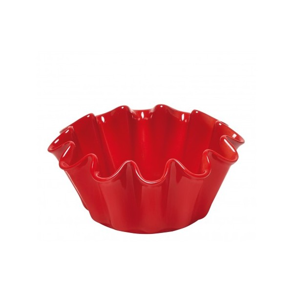 Molde para Brioche Emile Henry ondulado rojo