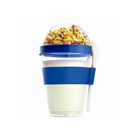 Vaso para yogurth con toppings