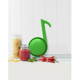 Colador en forma de nota musical verde