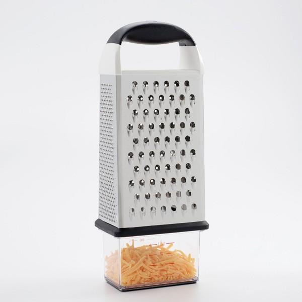 Rallador de 4 caras con recipiente Oxo