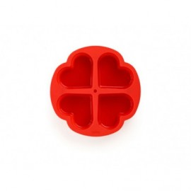 Mode de 4 cavidades para mini baguettes, perforado