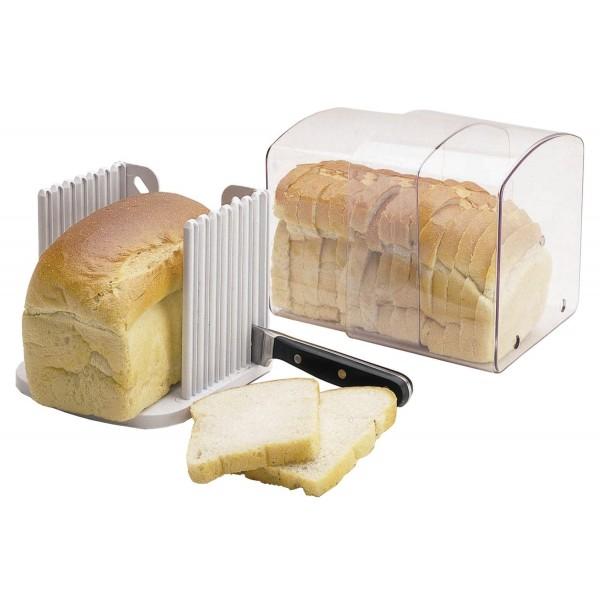 Panera con guía para cortar pan en rebanadas