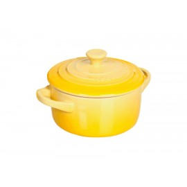 Mini Cocotte redonda Le Creuset 10 Soleil (amarillo)