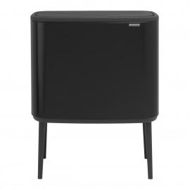 Cubo 3 compartimentos Bo Touch bin negro de Brabantia