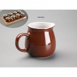 Lechera chocolate cerámica