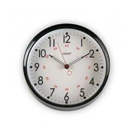 Reloj de pared negro 27,5 cm