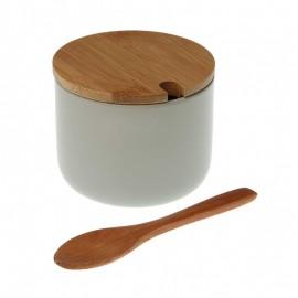 Azucarero con tapa bamboo gris