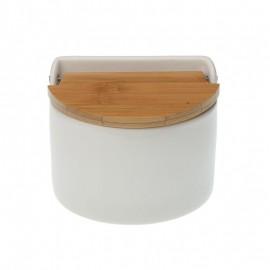 Salero semicircular tapa bambú
