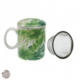 "Taza infusion con tapa ""New Leaves"""