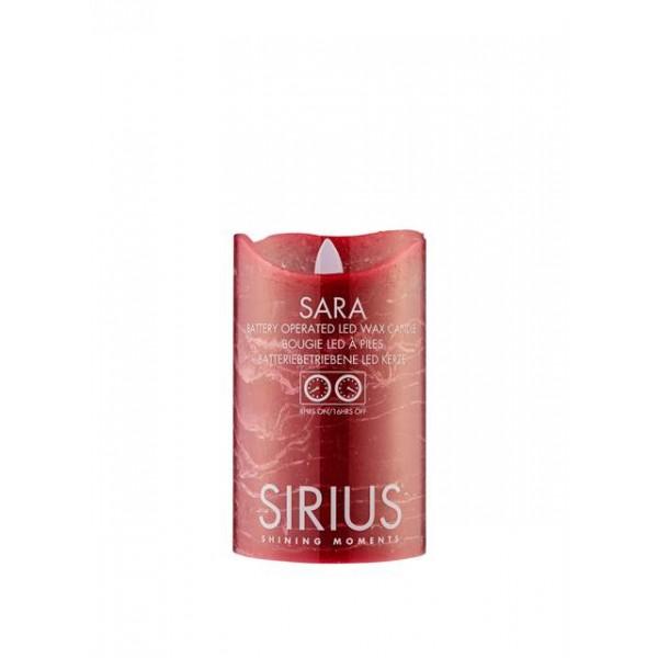 Vela led decorativa Sirius Sara Gold 12,5 cm.