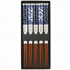 5 pares de palillos Flores