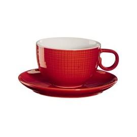 Taza espresso con plato Chili roja