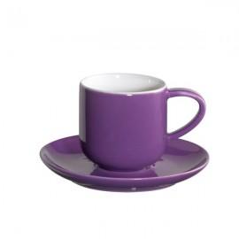 Coppa set de dos espresos con platos azul