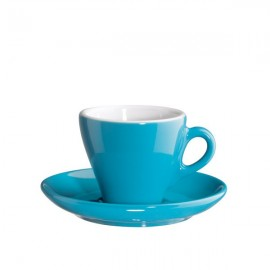 Taza capuchino con plato Azul