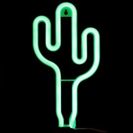 Deco luminoso neón cactus