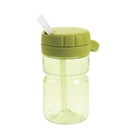 Botellín con pajita 250 ml Verde