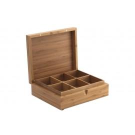 Caja te de 6 compartimentos