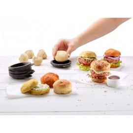 Moldes para hacer pan de mini hamburguesa Lékué