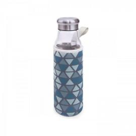Botella cristal con funda 550 ml. Iris