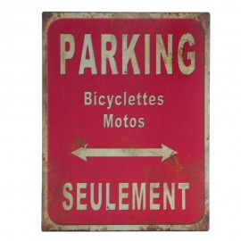 Placa metal Parking