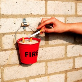 Cenicero cubo anti incendios