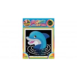 Sequin art 60 delfín