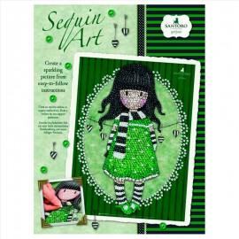 Sequin art Gorjuss verde