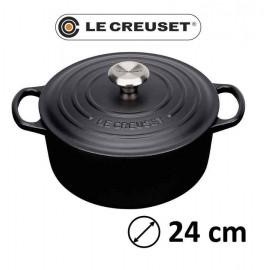 Cocotte redonda Le Creuset 24 Negra