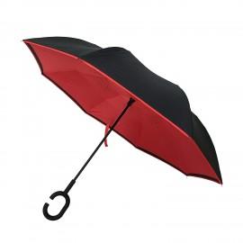 Paraguas rojo reversible anti viento Smati