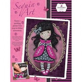 Sequin art Gorjuss rosa