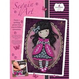 Sequin art Gorjuss rosa