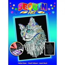 Sequin art perro pintor
